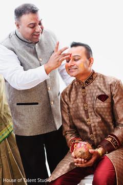 Indian groom's pre-wedding ritual