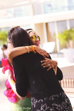 Indian bride's tender moment