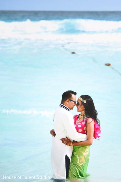 Most romantic beach side photo shoot