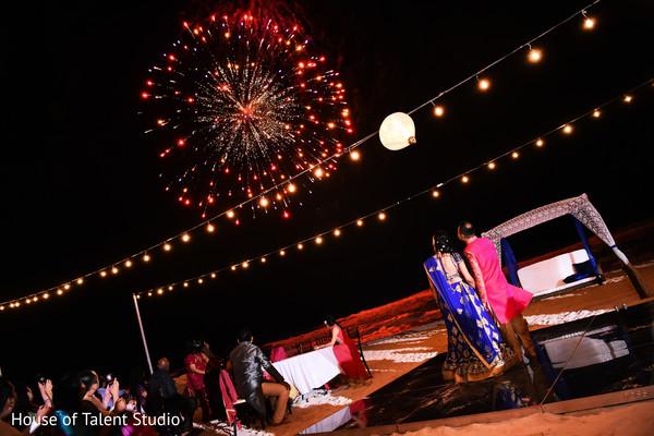 Fireworks during sangeet night