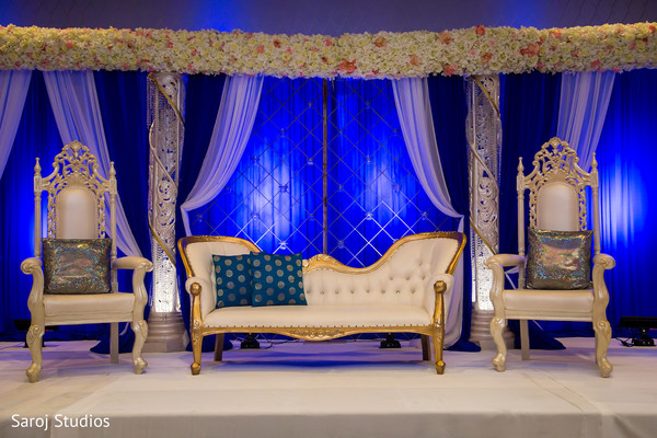 Fabulous indian wedding reception stage decor