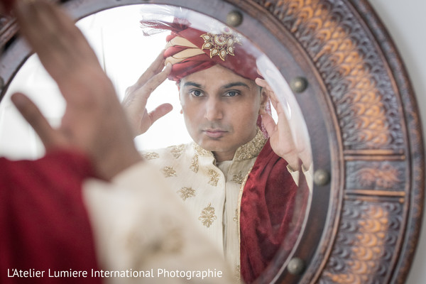 See this indian groom getting ready