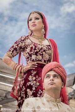 Indian lovebirds posing for photo shoot