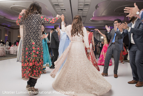 Sweet indian bride dancing