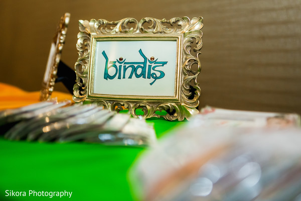 Indian wedding sign for the sangeet bindis.