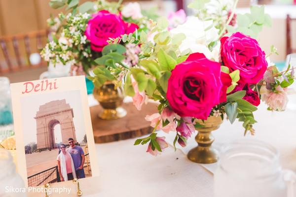 Beautiful Indian wedding reception table decoration.