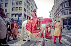 Traditional indian wedding baraat