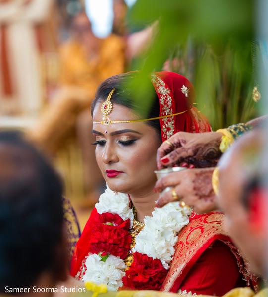 Indian bride during wedding ceremony