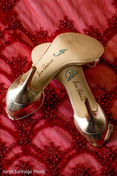 Indian bride's wedding ceremony shoes.