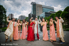 indian bride and groom,indian wedding ceremony fashion,indian bridesmaids and groomsmen