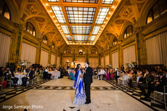 indian bride and groom,indian wedding reception fashion,indian wedding first dance