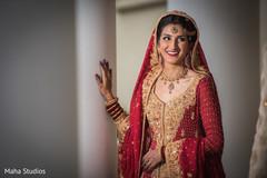Dazzling indian bride's portrait