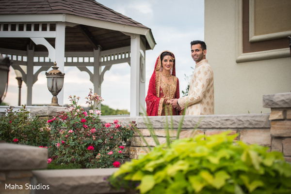 Enchanting indian couple's outdoor themed photo