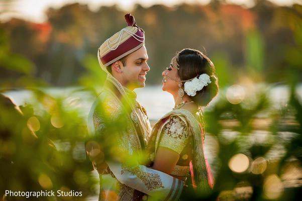 Beautiful indian newlyweds capture