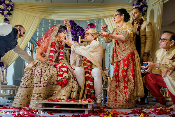 Lovely indian wedding ceremony moment