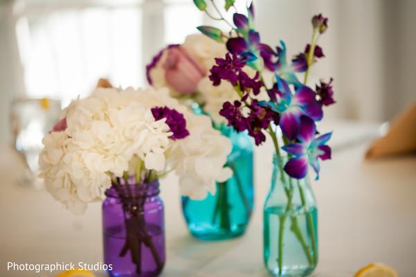 Indian wedding floral centerpieces
