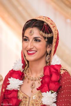 bridal lengha,indian bride fashion,hair and makeup