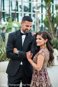 Insanely beautiful indian bride and groom's photo session