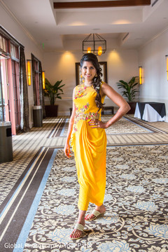 Stunning maharani in yellow dress