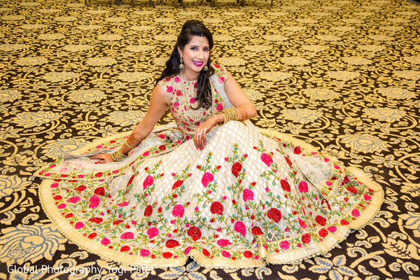 Stunning indian bride in her sangeet outfit