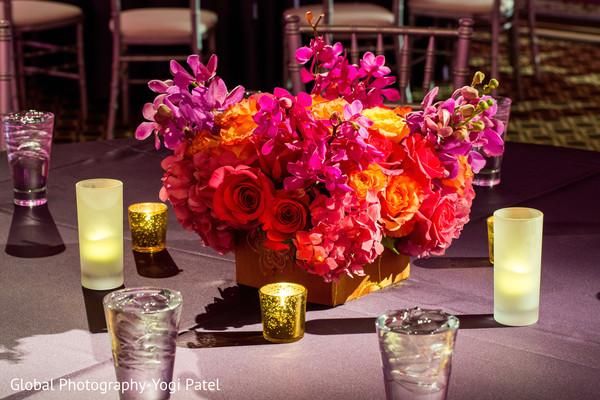 Sangeet table centerpieces