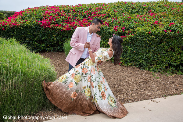 Lovely outdoor indian engagement capture