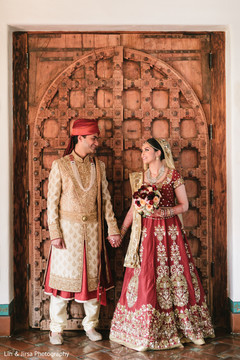 Indian couple looking perfect for their wedding