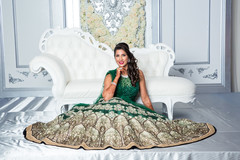 Ravishing indian bride's reception attire