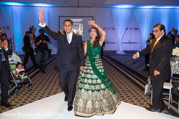 Indian couple's grand entrance