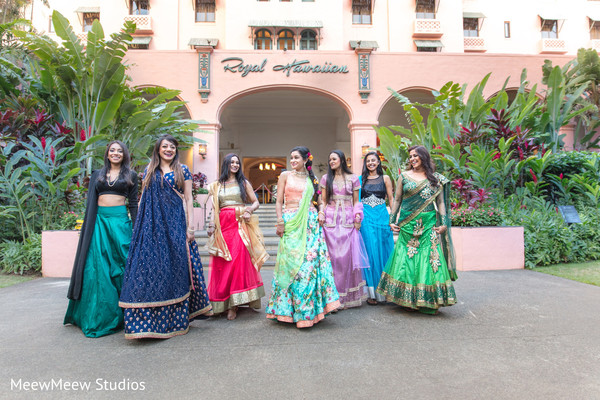 indian bride,bridesmaids,indian bridesmaids