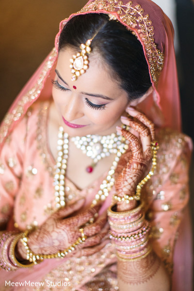 Maharani looking perfect in her bridal trousseau