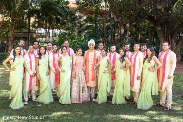 indian bridesmaids fashion,indian groomsmen fashion,indian bridal party fashion