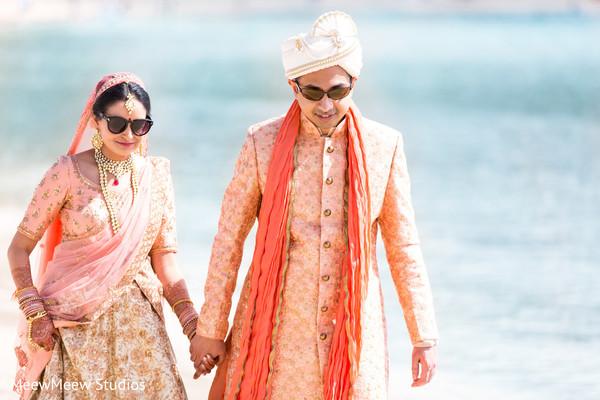 indian wedding,indian couple,bridal lengha