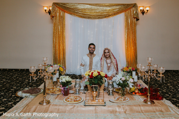 Fabulous indian bride and groom's portrait