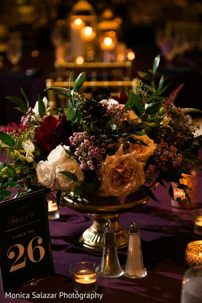 indian wedding reception,indian wedding reception floral and decor,floral centerpiece,table number