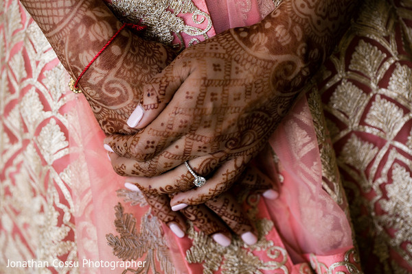indian wedding gallery,indian bride mehndi,indian bride getting ready