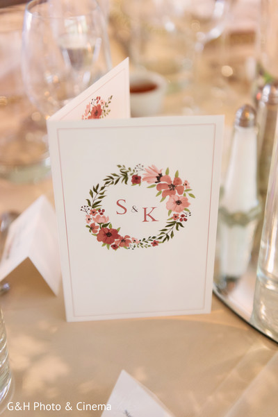 Personalized indian wedding thank you cards