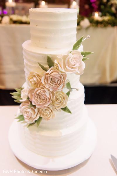 Flawless indian wedding cake