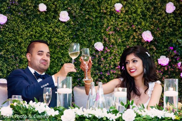 Indian couple toasting