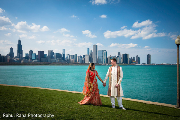 Indian bride and groom loving moment