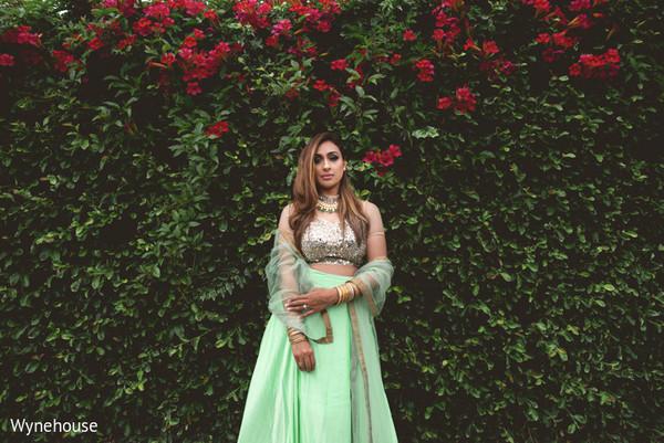 indian bride fashion,mint lengha,colorful lengha