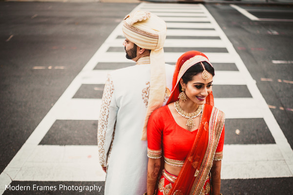 Indian bride and groom photo shoot