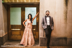 Glamorous indian bride and groom