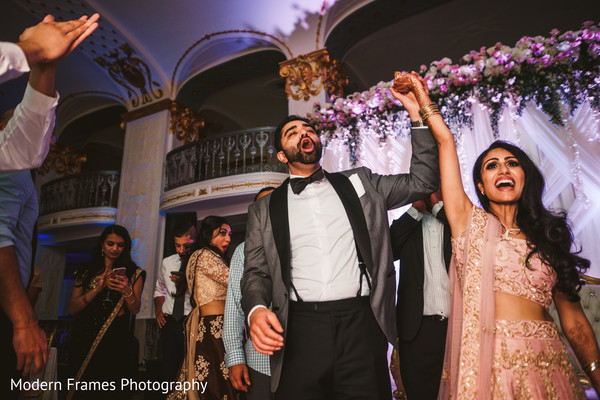 Indian couple entering their reception