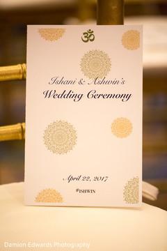 Lovely indian wedding program