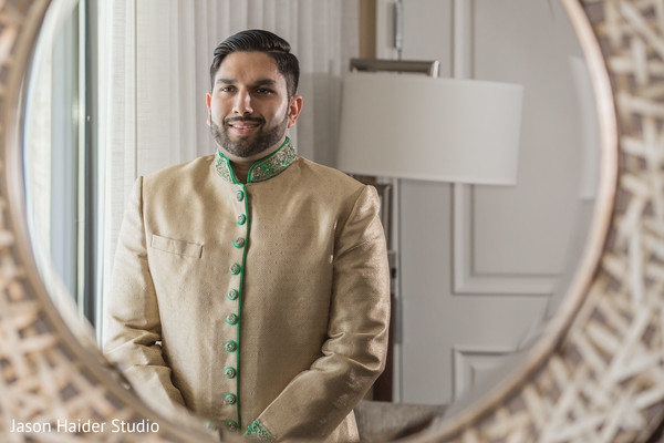 See this charming indian groom getting ready