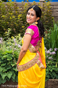 Lovely maharani in a colorful sari