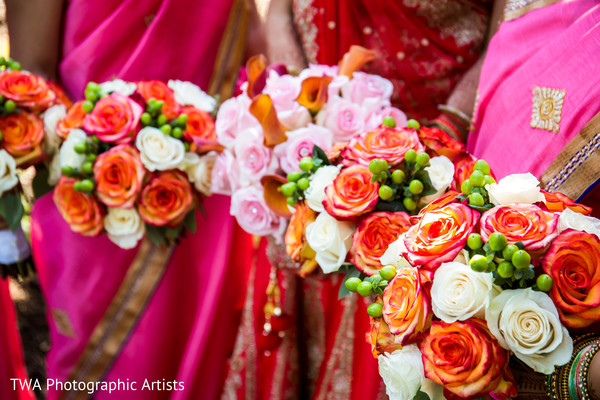 Beautiful indian bridesmaids bouquets