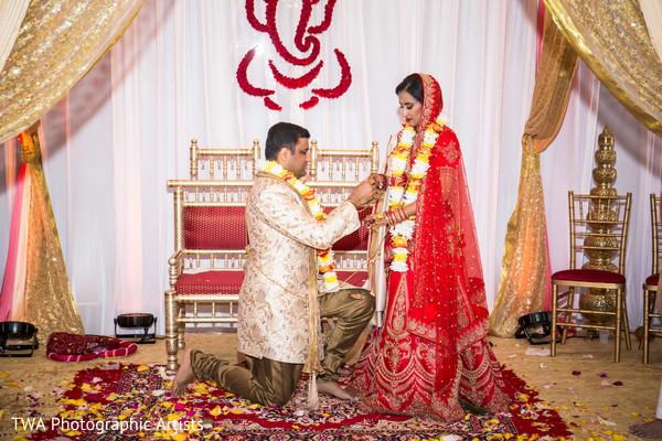 Maharani receiving her wedding ring