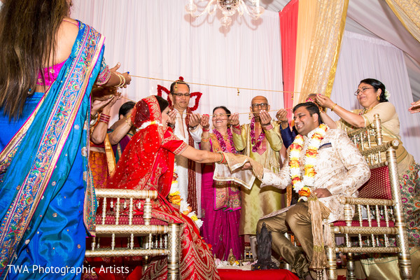 See this lovely indian couple at their wedding ceremony